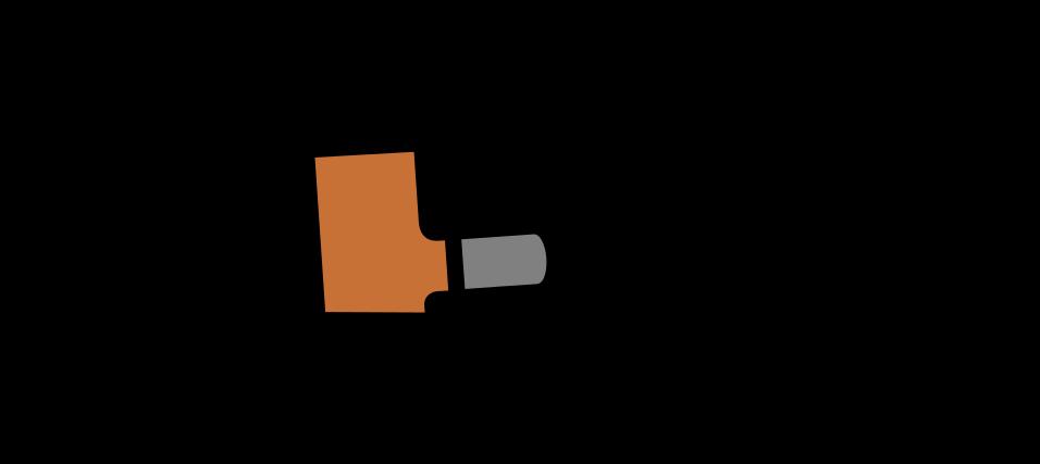 poker shaped e-pipe